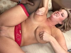 Cute ass blonde babe getting destroyed by a BBC