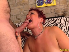 Kinky Mature Redhead Plays with Herself Before Fucking