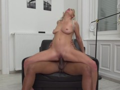 Kinky MILF Kathy Anderson goes interracial