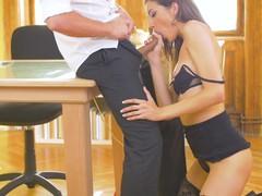 Cum craving Mikki Torez rides that big cock