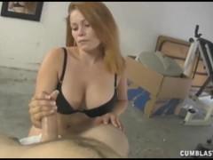Redhead Milf Strokes A Big Hard Cock