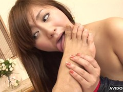 Hairy Asian pussy in stockings getting fucked hard