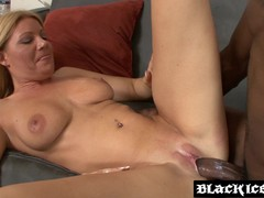 Busty MILF sucking and fucking BBC