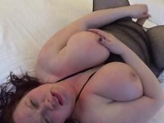 BBW slaps tits and talks dirty.