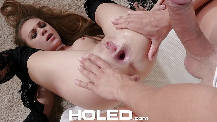 Gold digger in lace fucked anal holed 2