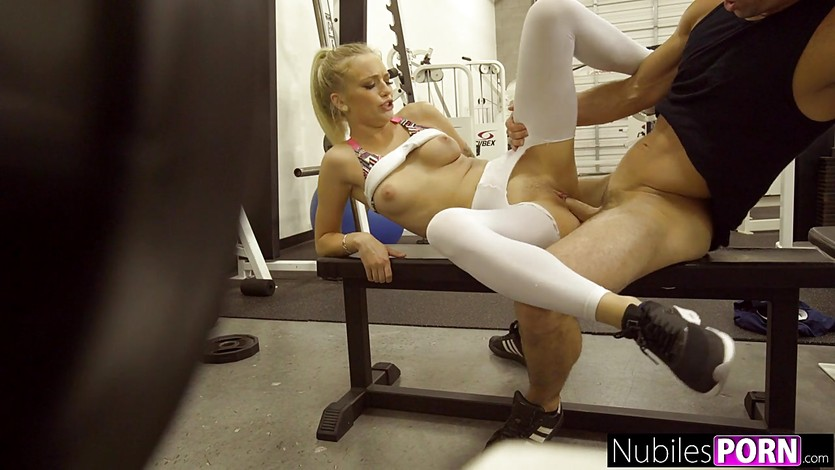 Fit Teen Alex Grey Yoga Pants Ripped And Fucked in the Gym