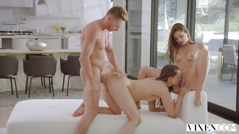 Skinny Black Teen Threesome