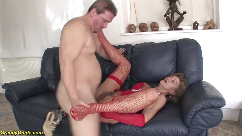 granny first anal