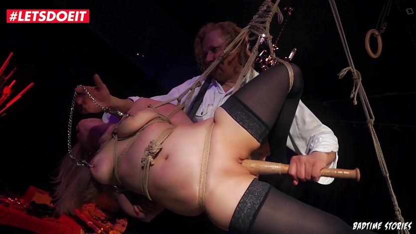 Amateurs suffering in hard bondage
