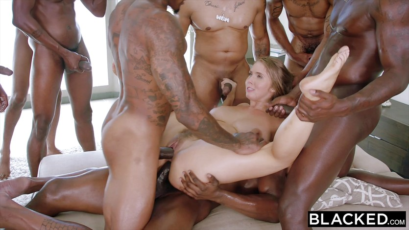 Ebony Gangbang White Dick