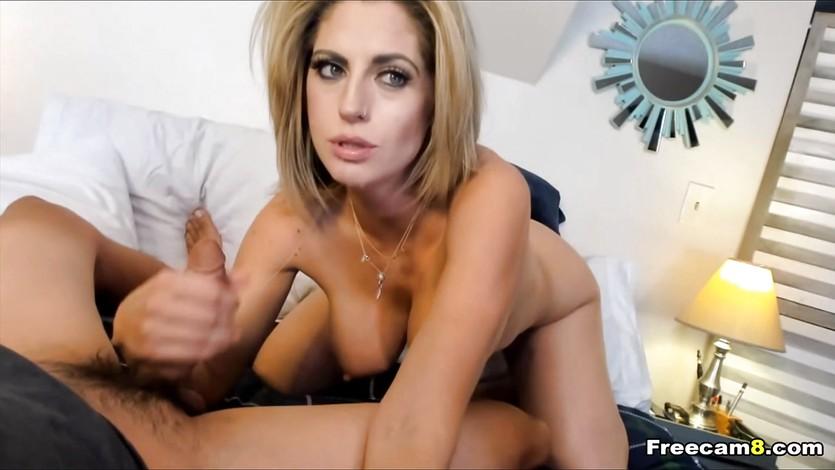 Busty Blonde Milf Blowjob