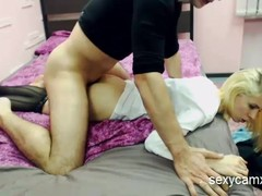 Cute Teen With Small Tits Gets Fucked And Get Cum On Her Ass
