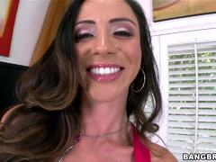 Smoking hot Ariella Ferrera warms her pussy up by having an orgasm before the show has even started