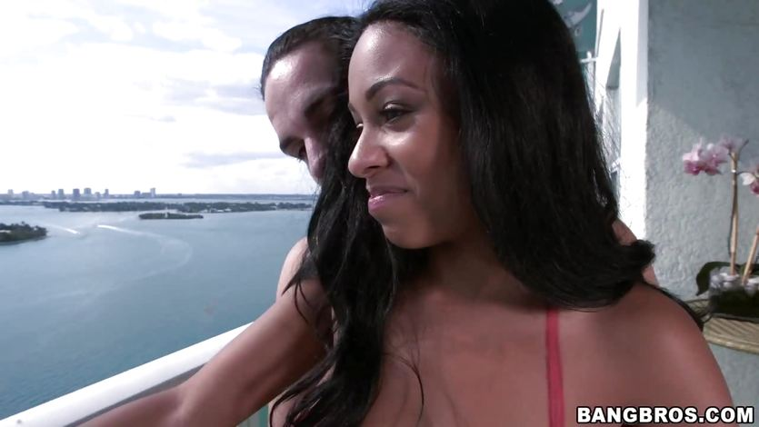 Good views all around while Anya Ivy bounces up on down on his hard knob