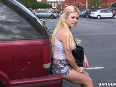 Mia Pearl gets over her cheating boyfriend by taking a ride on the Bang Bus
