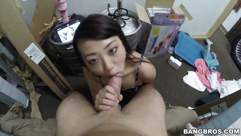 Asian hottie Miko Dai POV BJ